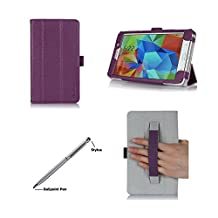 "ProCase Samsung Galaxy Tab 4 7,0 ""avec stylet Étui Smart Cover Avec Support pour 7"", Tab 4 2014 SM-T231/T230/T235), sangle à main (Violet)"