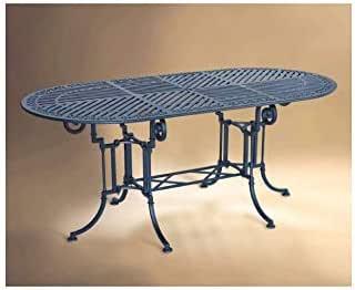 Forja Hispalense Mesa de Aluminio Teide-Marbella 180 - Óxido, Pie de Mesa con Tapa de Aluminio de 180x90: Amazon.es: Hogar