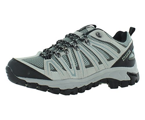 Pacific Mountain Ravine Men's Hiking Backpacking Low-Cut Black/Grey Boots Size 10.5