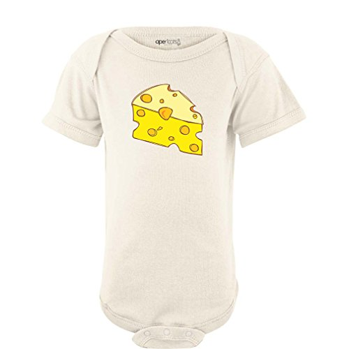 Apericots Cute Cheese (Goes With Macaroni) Funny Cute Design Baby Twins Best Friends Bodysuit (Newborn, Cream)