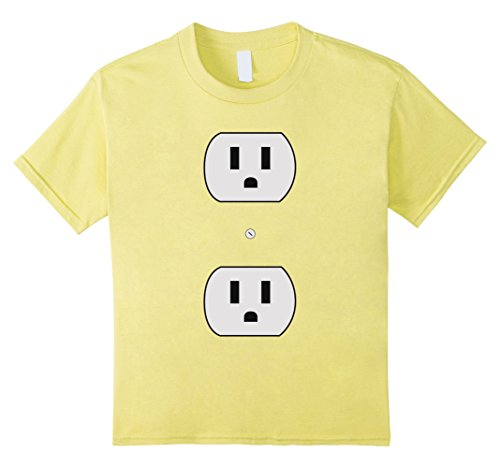 Kids Super Simple Easy Halloween Costume - Electrical Outlet Plug 10 Lemon