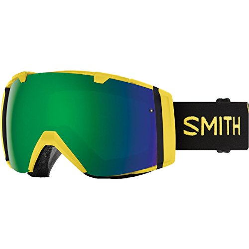 1 Ski Snow (Smith Optics I/O Adult Snow Goggles - Citron Glow/Chromapop Sun Green Mirror/One Size)