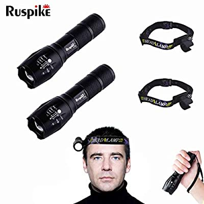 LED Tactical Flashlight, 2 PACK Super Bright Handheld LED Flashlight with Zoomable Focus and Water Resistant, Perfect for Camping,Hiking,Outdoor, Emergency