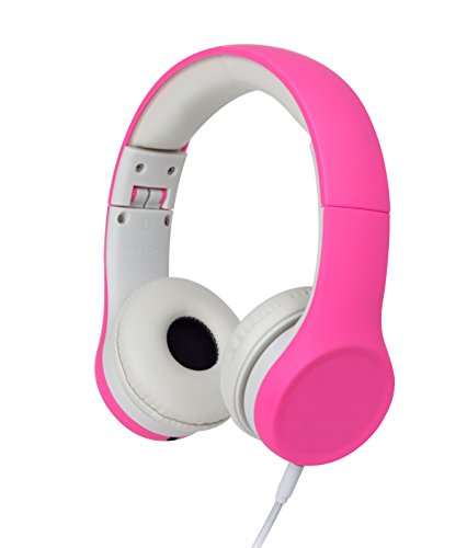 Kids Headphones Volume Limiting and Audio Sharing Port (Pink)
