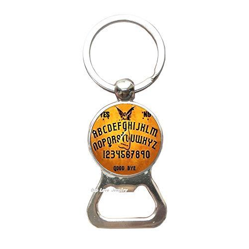 Ouija Board Bottle Opener Keychain Key Ring Ouija Board jewelry Cothic Glass Photo Cabochon Bottle Opener Keychain Key Ring Jewellery Gifts,TAP132 - Handcrafted Ouija Board