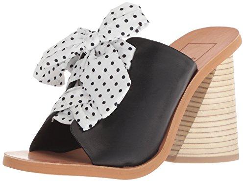 Dolce Vita Women's Amber Heeled Sandal, Black Leather, 7.5 M US
