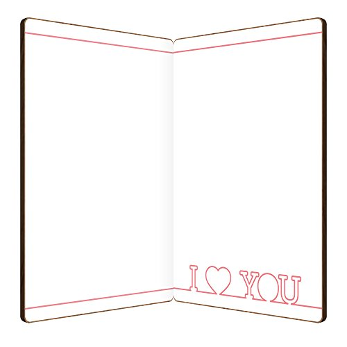 I Love You Card Made With Real Wood Heart And Arrow Design: Wooden Cards Make A Great Gift For Anniversary, Valentine's For Husband Or Wife, Or Just Because