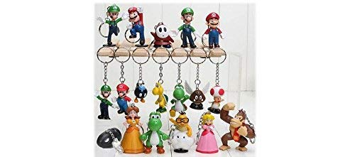 Super Mario Figure Keychain 18 Pc set