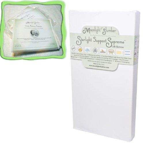 - Starlight Support Supreme Dual Firmness Crib Mattress With Memory Foam PLUS BONUS