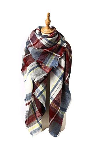 Spring Fever Stylish Warm Blanket Scarf Gorgeous Wrap Shawl G Fuchsia