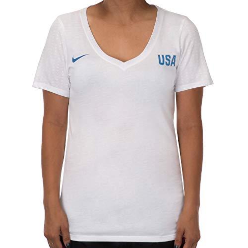 (Nike Women's USA Match Tee - White (Medium))