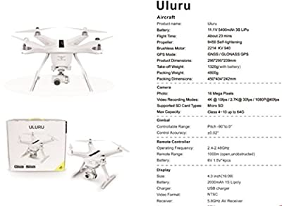 Brand New 2017 Latest Technology TOVSTO Uluru Drone with 4K HD camera live video 1400 mega pixel and gps return home auto landing 3D Gimbal with screen and remote control (BIG PROMOTION)
