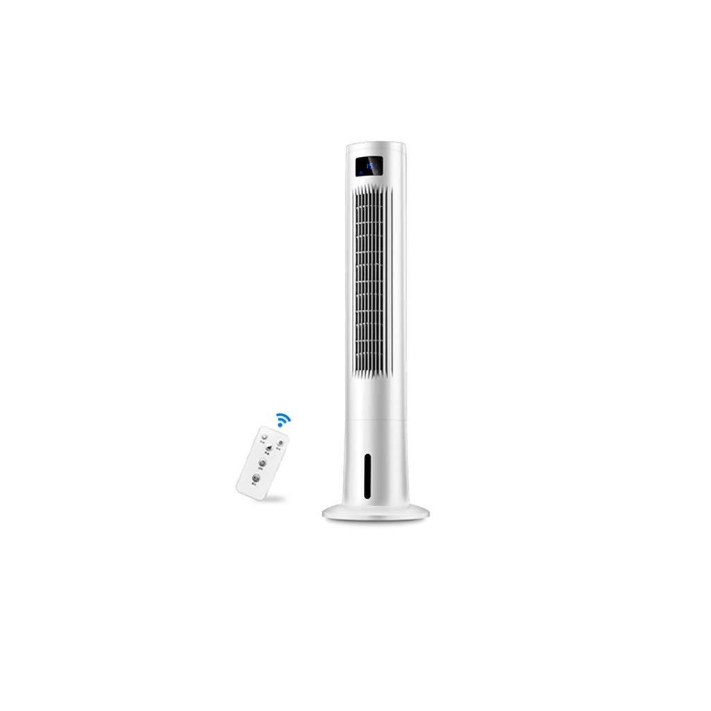 エアコンファン冷却リモコンタワー、ポータブル55Wサイレント電気冷却ファン寮ファンクーラープラス水小さなエアコン、垂直リーフレスファン、家庭やオフィス8時間タイマー B07TJQ3CTX