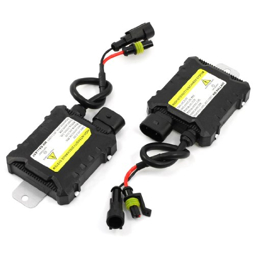 uxcell Pair Car HID Xenon Mini Ballast 35W 10A 12V for H1 H3 H7 H8 H9 H10 H11