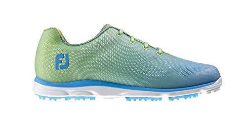 FootJoy Womens emPOWER Golf Shoes - LIME GREEN/LT BLUE - 98001 - 6 MEDIUM (Footjoy Shoes compare prices)