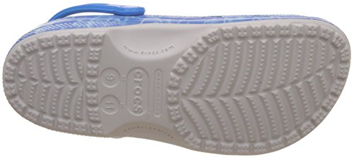 Crocs Classic Water Graphic, Zuecos unisex adulto Blanco (Pearl / White)