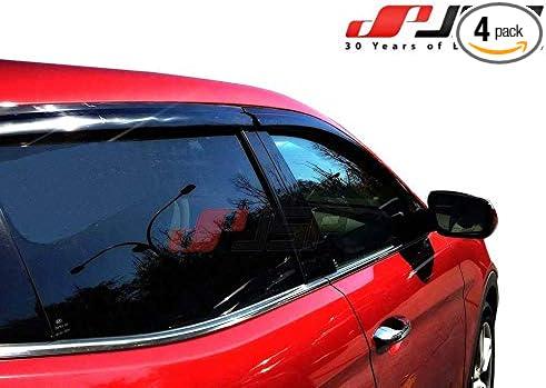 Wind Deflector Smoke Color Outside Channel Adhesive Mount 4-Piece Stay Dry Driving JSP Rain Guard Window Vent Visor Fits 2020 Hyundai Santa Fe