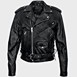 41oqaaVrmYL. SL160  Womens Leather Motorcycle Jacket with Silver Racing Stripe, Insulated, Zip Out Lining & Reflective Stripes, Jackets available in all sizes
