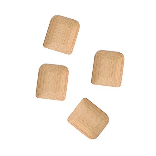 (bambu, Organic Bamboo Pot Scrapers, Food Safe Kitchen Tools - Set of 4)