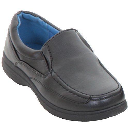 ZAFIRO boutique infantil Sin Cordones Cuero Sintético vuelta al cole ELEGANTE Mocasines Niños Cómodo Zapato plano: Amazon.es: Zapatos y complementos