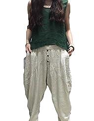 Voguestand Women's Fashion Cotton 2 Colors 1 Sizes Long Autumn Pants Gray One Size