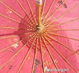 JapanBargain S-2164, Chinese Japanese Oriental Parasol Umbrella 32-inch, Hot Pink Color
