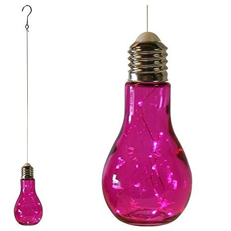Palme zum aufstellen oder h/ängen kabellos /Ø 9 cm H18,5 cm Mojawo 2er Set LED Gl/ühbirne Deko Lampe Glas Sparlampe Muscheln