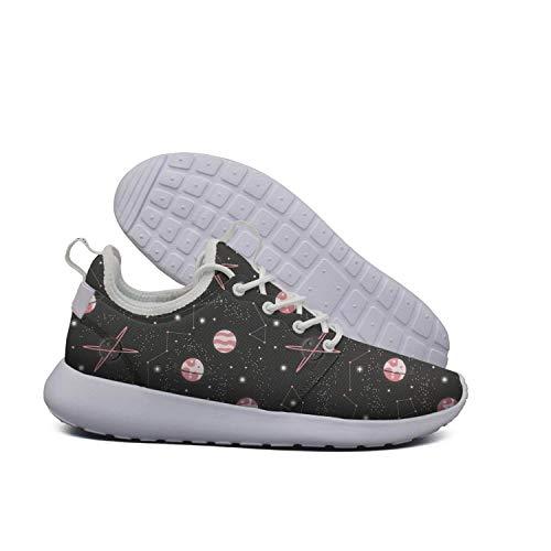 Opr7 Star Women Shoes Sport Lightweight Casual Moon Stars For Cloud Moon Pink Running Sneaker RRnUw4Srqx