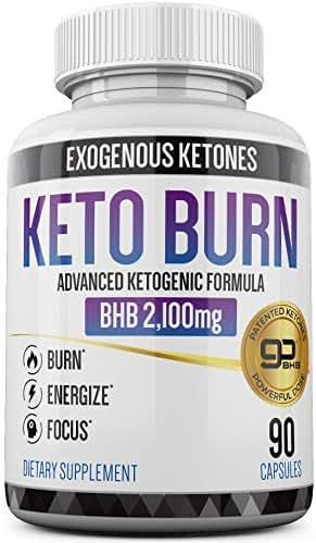 Keto Pills - 3X Dose (2100mg | 90 Capsules) Advanced Keto Burn Diet Pills - Best Exogenous Ketones BHB Supplement - Max Strength Formula