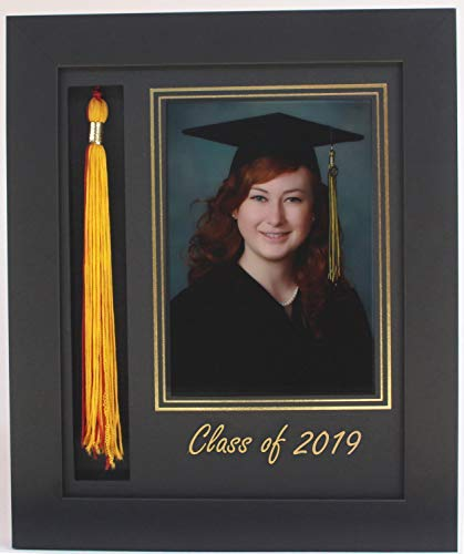 3art Graduation Tassel 5x7 Picture Frame Black 2019 (Customizable) ()