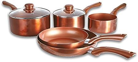 Cocina De Cobre De Aluminio Juegos De Utensilios De Cocina