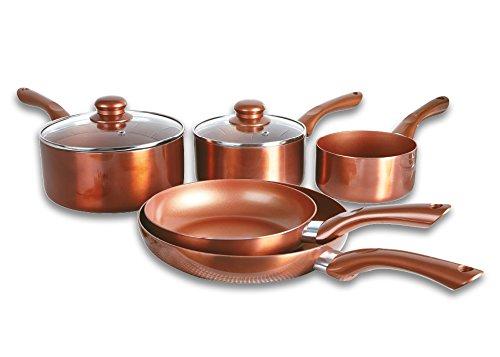 Set Of 4 Copper Pans With Lids Frying Pan Pots Saute