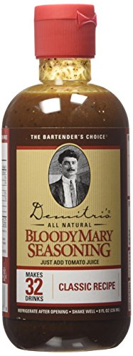 Demitri's Bloody Mary Seasoning Classic Recipe (Single Bottle) 8oz - Bloody Mary Mixer
