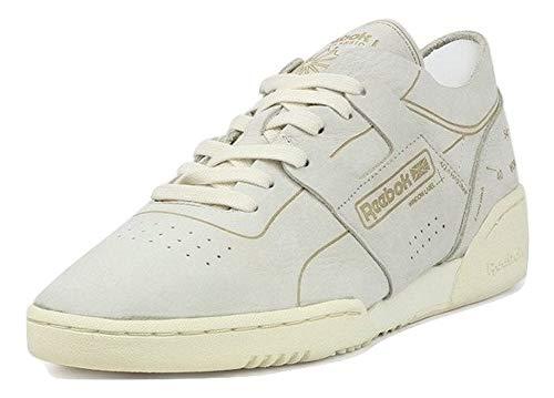 Reebok Men's Workout Low Classic Shoe (12, Classic White/Urban Grey) ()