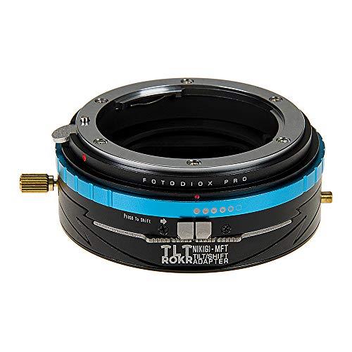 Fotodiox Pro TLT ROKR - Tilt/Shift Lens Mount Adapter for Nikon Nikkor F Mount G-Type D/SLR Lenses to Micro Four Thirds (MFT, M4/3) Mount Mirrorless Camera Body
