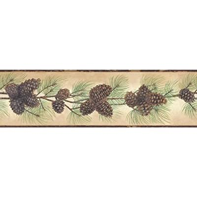 York Wallcoverings Pine Cone Branch Border