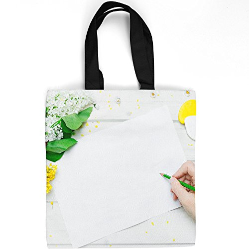Westlake Art - Flower Design - Tote Bag - Picture Photography Shopping Gym Work - 16x16 Inch (D41D8)
