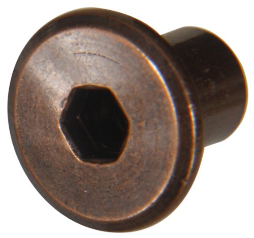 (Hillman 57141 Antique Bronze Joint Connector Binding Post Nut, 1/4-20-Inch Thread, Hex Drive Nut, 12-Pack)
