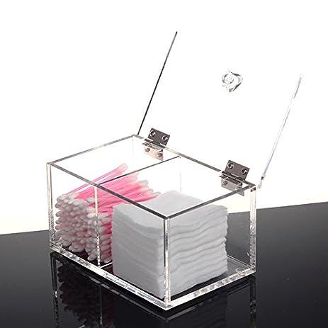Clear Acrylic Cotton Swab Box U0026 Bins Q Tip Storage Organizer Holder  Cosmetic Makeup Tool