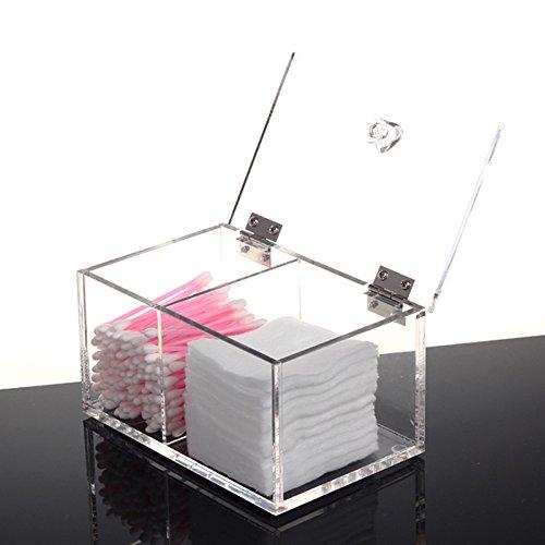 Clear Acrylic Cotton Swab Box & bins Q-tip Storage organizer Holder Cosmetic Makeup tool Women organizador acrilico BF310-3