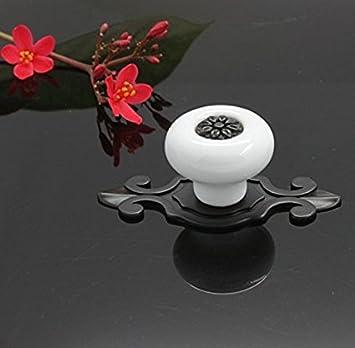 Maniglia Maniglia del cassetto ceramica Manopole elegante nero Bella vita* 10er maniglia della mobilia,Maniglie e pomelli cassetti
