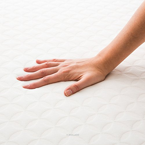 LUCID 6 Inch Memory Foam Mattress - Dual-Layered - CertiPUR-US Certified -...