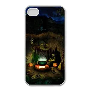 iphone4 4s White phone case Halloween Night The best gift DVE3554441