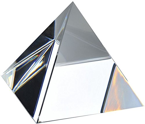 Amlong Crystal Clear Pyramid 2.75 inch High with Gift - Box Pyramid
