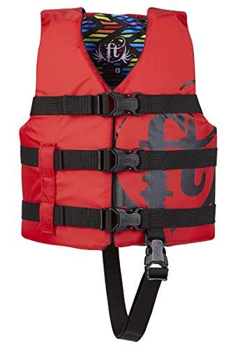 Full Throttle Child Life Jacket, Red
