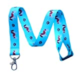 Cavalier King Charles Spaniel Dog Breed Print Break Away Lanyard Key Chain Id Badge Holder