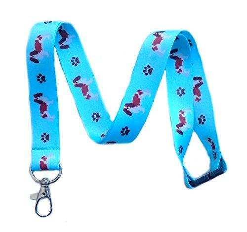 (Cavalier King Charles Spaniel Dog Breed Print Break Away Lanyard Key Chain Id Badge Holder)