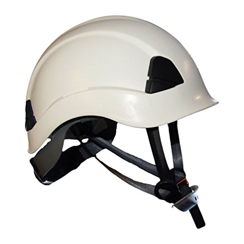 ProClimb Gem Work and Rescue ANSI White Helmet Z89.1-2014 Type I Class E Certified with drawstring storage bag ()