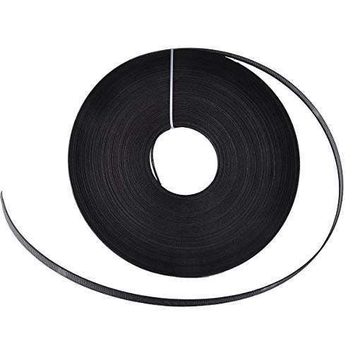 50 Yards Polyester Boning for Sewing - Sew-Through Low Density Boning for Corsets, Nursing Caps, Bridal Gowns (6mm, Black)