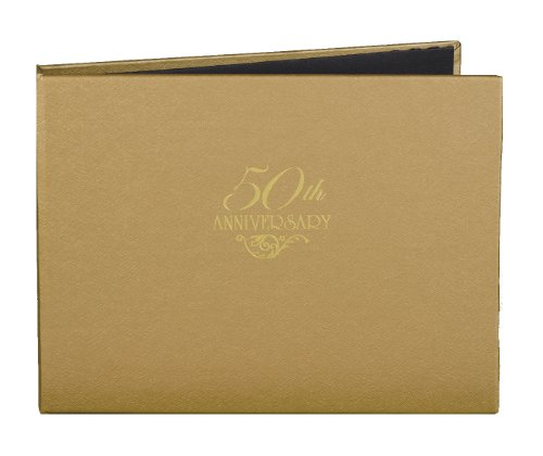 50th Wedding Anniversary Guest Book - Hortense B. Hewitt Wedding Accessories 50th Anniversary Gold Guest Book